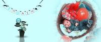 عکاسی دو ماهگی در آتلیه مادر، نوزاد و کودک روزگارخوش